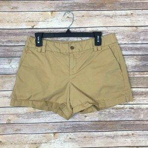 LOFT 6 Mid Rise Cotton Beige Chino Shorts B38